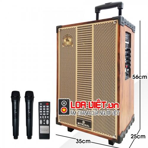 Loa kéo di động Mitsunal T1209 - Vỏ gỗ - Bass 30